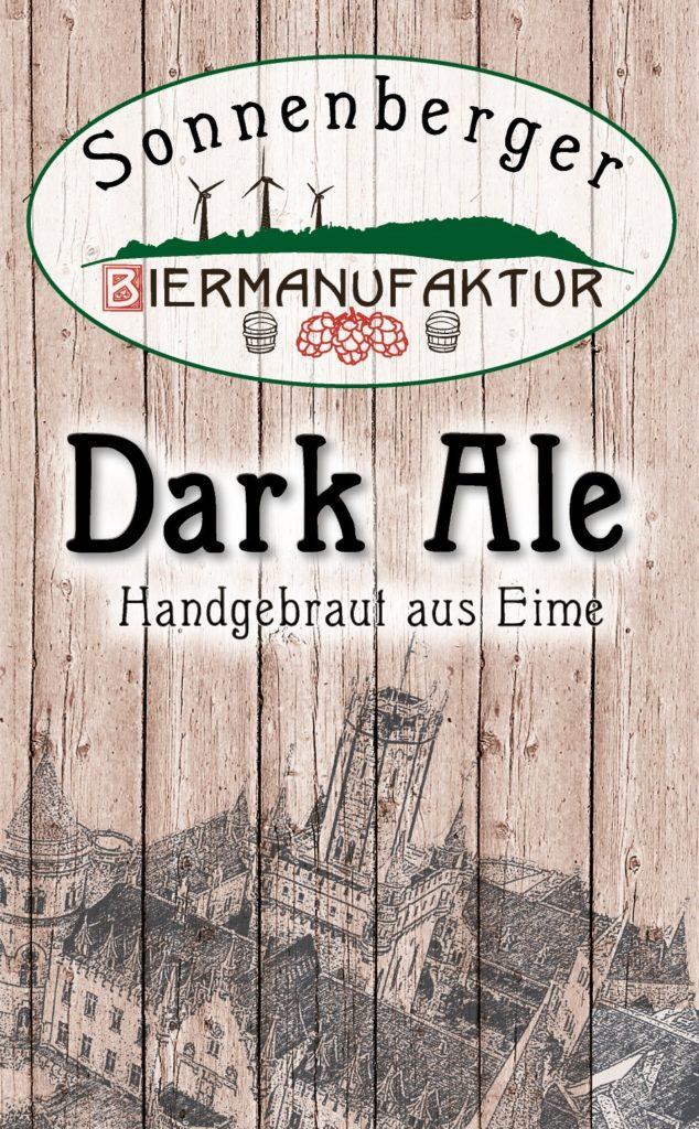 Sonnenberger Biermanufaktur Dark Ale Etikett