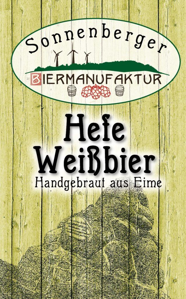 Sonnenberger Biermanufaktur Hefe Weissbier Etikett