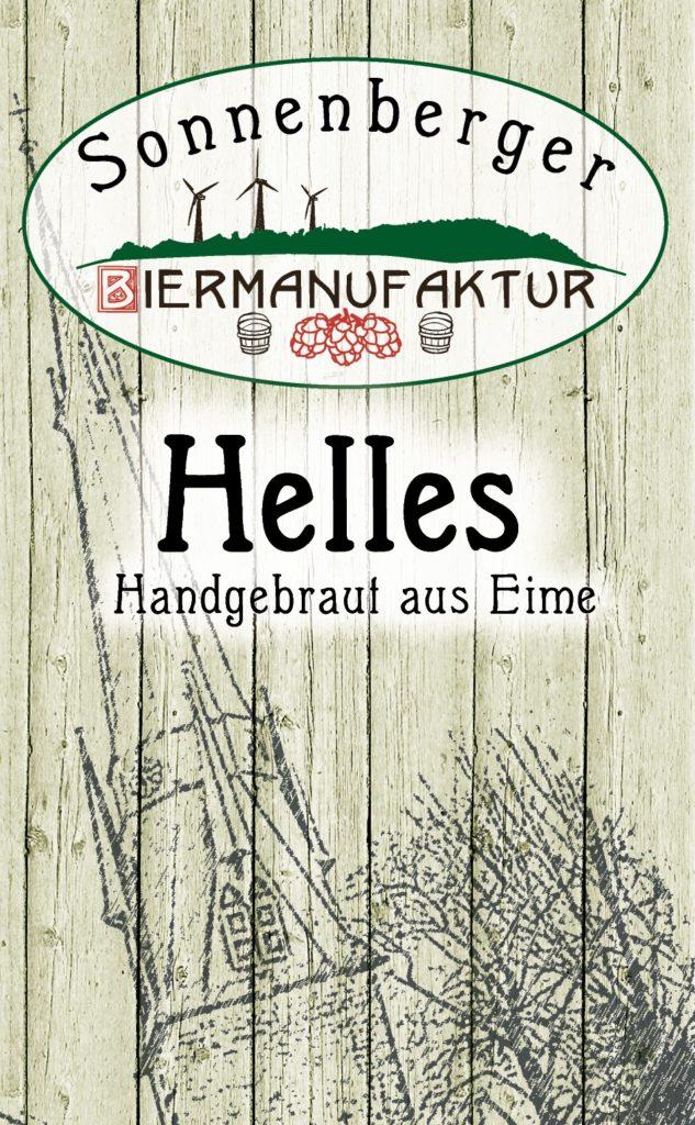 Sonnenberger Biermanufaktur Helles Etikett